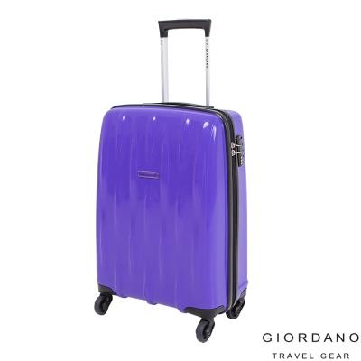 GIORDANO佐丹奴 20吋花漾水流系列旅行箱(藍)