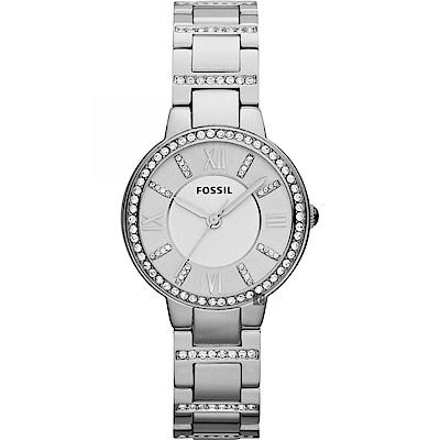 FOSSIL Virginia 晶鑽優雅女錶(ES3282)-銀/30mm