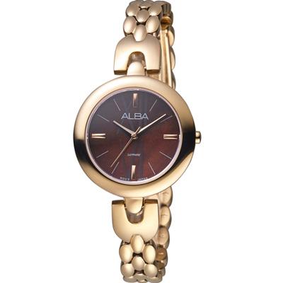 ALBA 雅柏 璀璨時尚手鍊女錶(AH8342X1)玫瑰金/29mm