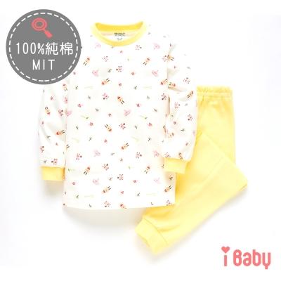 麗嬰房 ibaby 可愛小兔舒棉長袖家居服套裝 鵝黃