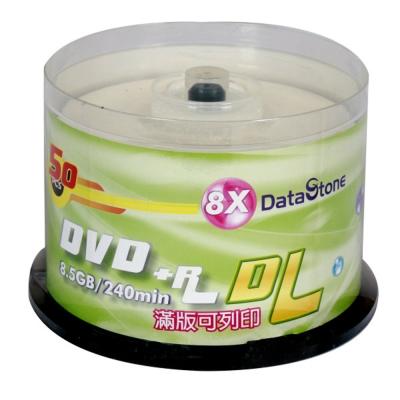 DataStone  精選日本版 DVD+R 8X DL 珍珠白可印桶裝 (100片)