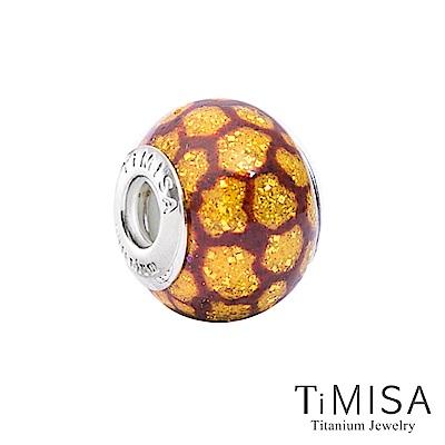 TiMISA 蜂窩(11mm)純鈦琉璃 墜飾串珠
