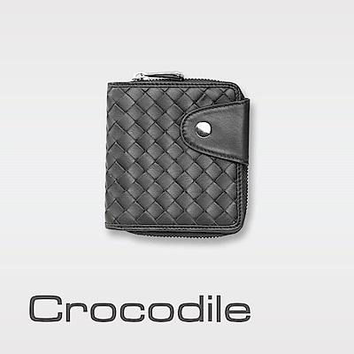 Crocodile Knitting系列多色手工編織拉鍊短夾 0103-6005