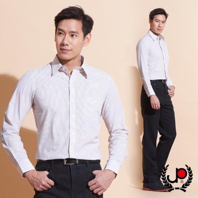 極品西服-自信品味直條紋長袖襯衫_卡其(SW038-73)
