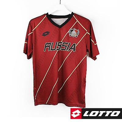 LOTTO 義大利 世足盃國家隊紀念T恤(俄羅斯)-酒紅