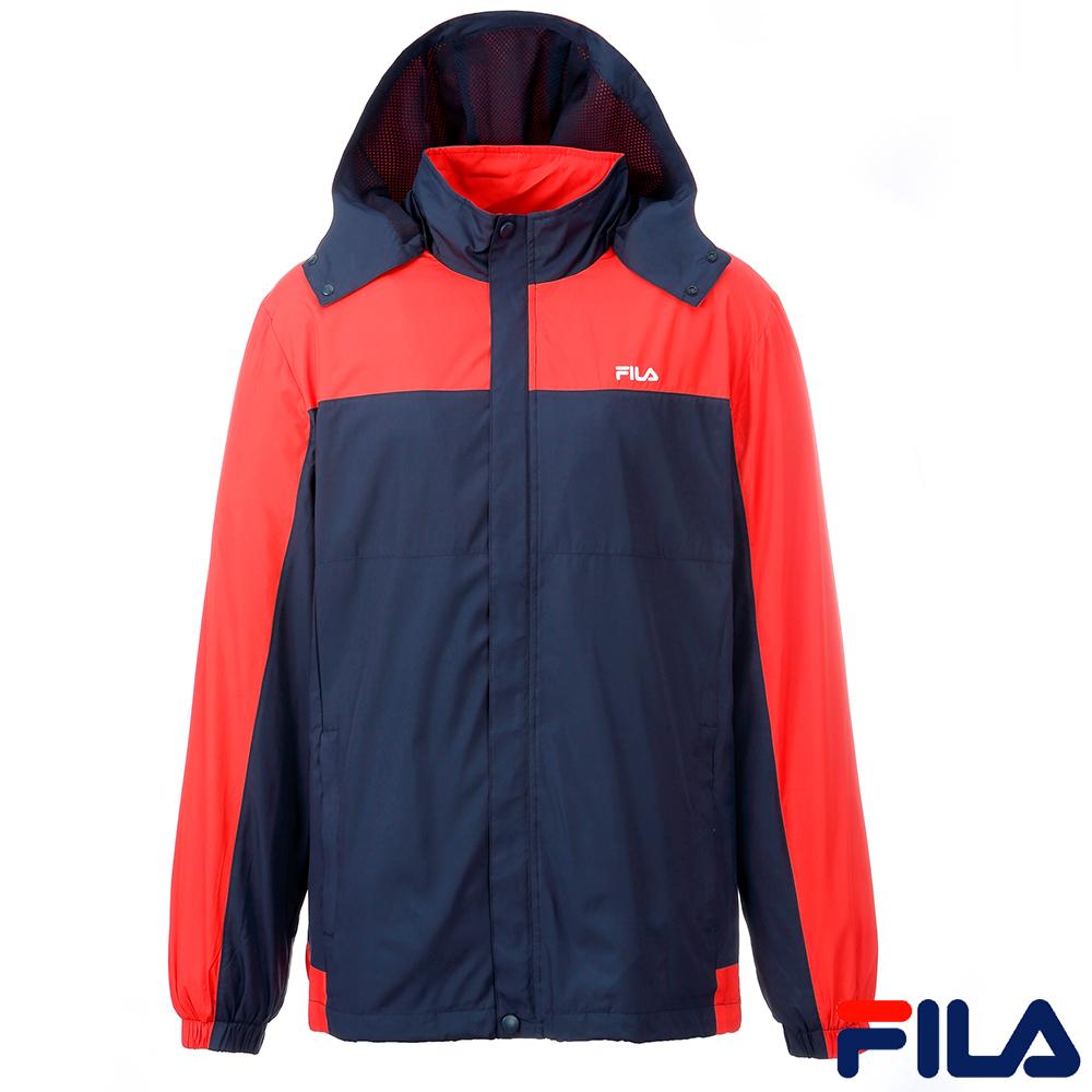FILA男平織外套(丈青/紅)1JKQ-5520-NV