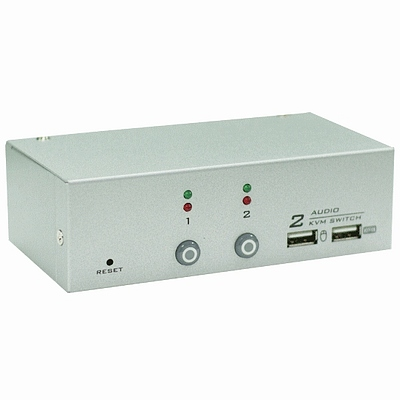 NuSwitch CD-102CA 2 PORT 雙介面 KVM 電子式電腦切換器