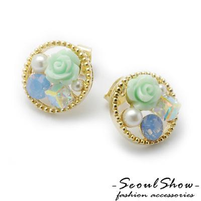 【Seoul Show】韓國直送 花精靈圓舞曲  針式耳環