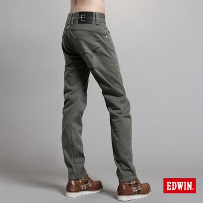 EDWIN-衝鋒魔力-W-F-EF迷彩窄直筒保溫褲-男款-橄欖綠