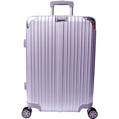 YC Eason 麗致20吋PC髮絲紋可加大海關鎖行李箱 紫