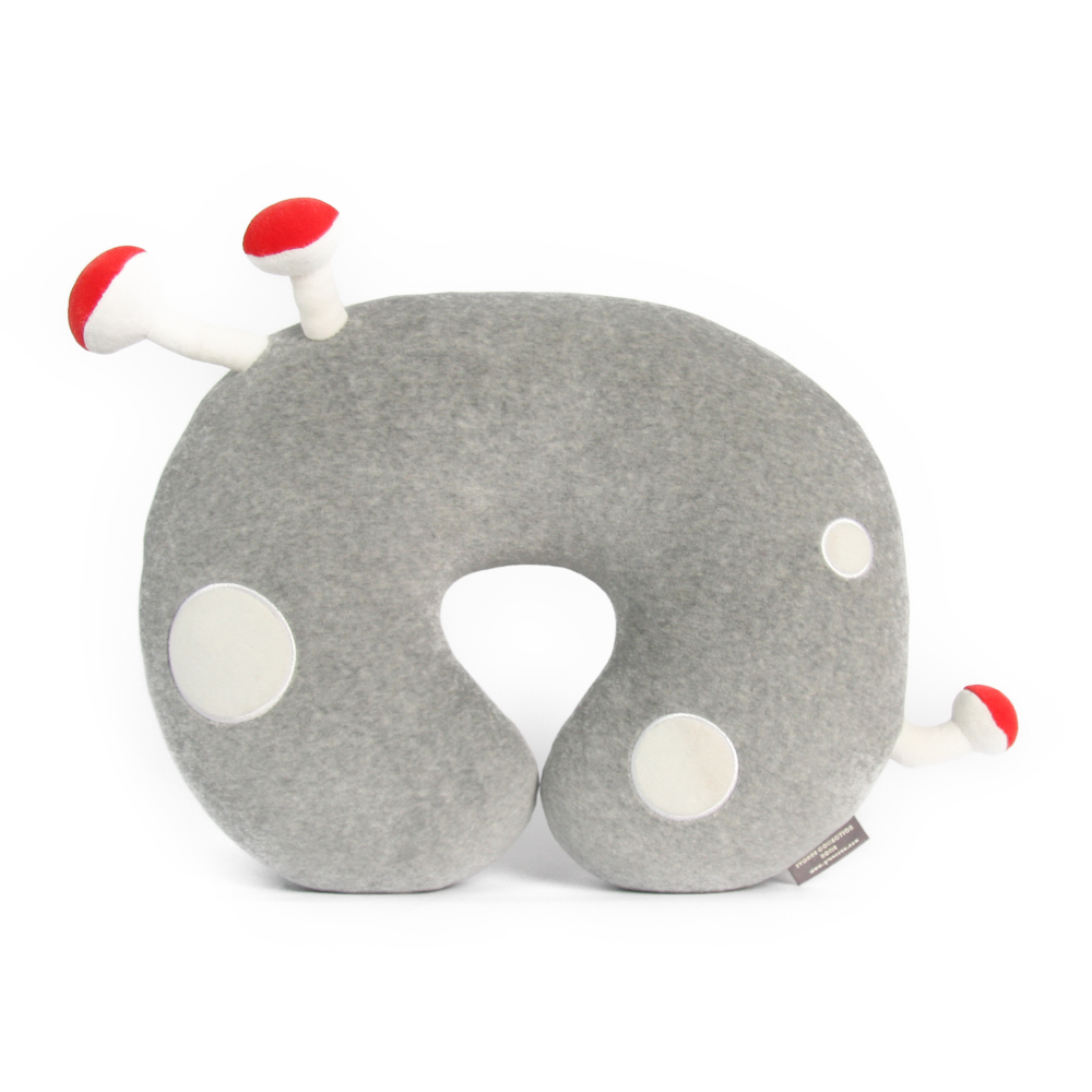 Yvonne Collection蘑菇頸枕-淺灰