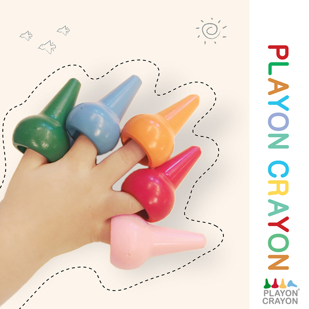 韓國 Playon Crayon 安全無毒兒童蠟筆12入 (2款可選) @ Y!購物