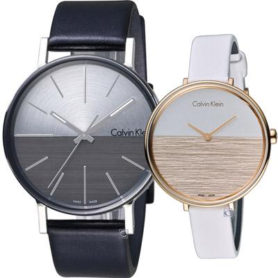 Calvin Klein cK 愛無限時尚對錶(K7Y21CCX K7A236LH)