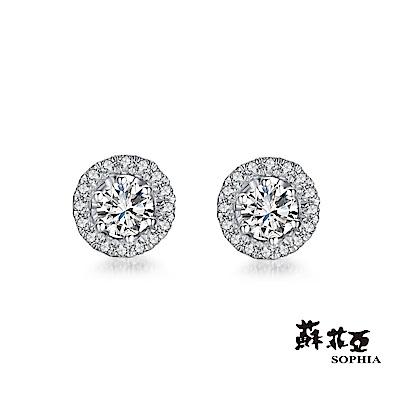 蘇菲亞SOPHIA - SIMPLE系列 0.20克拉 2WAY 鑽石耳環