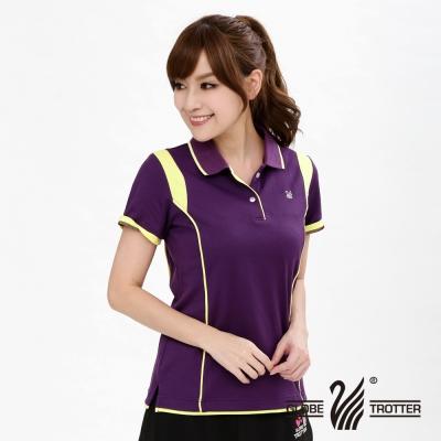 遊遍天下MIT台灣製女款棉質機能POLO衫S027深紫