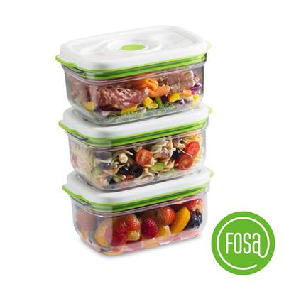 【加價購】FOSA真鮮寶方形智能真空保鮮盒1450ml(3入)