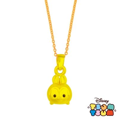 Disney迪士尼TSUM TSUM系列金飾-黃金墜子-桑普兔款 送玫瑰鋼項鍊