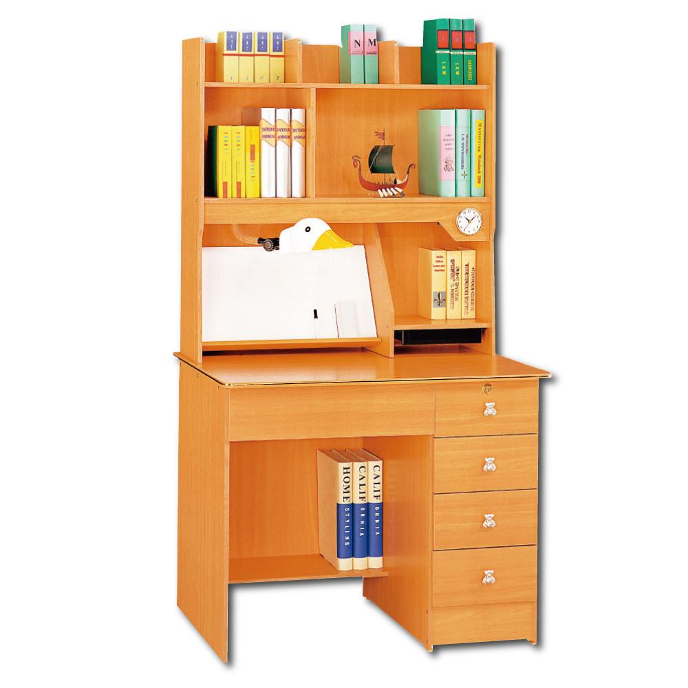 AS-托比小浣熊3尺書桌全組- 91x57x161cm