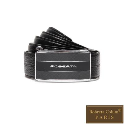 Roberta Colum - 紳士們爵士碳纖自動金屬滑扣牛皮皮帶