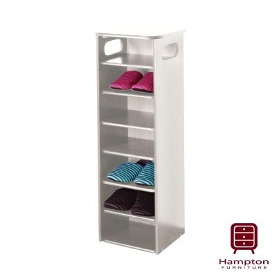 漢妮Hampton蘿拉古典七層鞋架-白色
