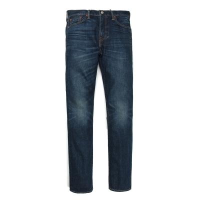 502-窄管丹寧牛仔褲-赤耳-Selvedge-深藍洗色-Levis