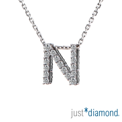 Just Diamond Love Words系列18K金鑽石墜子-N