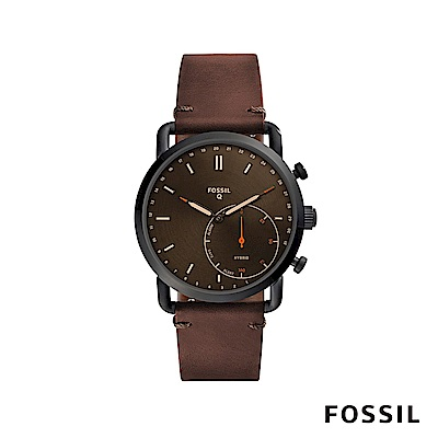 FOSSIL Q COMMUTER 智能錶-深棕色 約44mm FTW1149