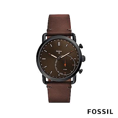 FOSSIL Q COMMUTER 智慧手錶-深棕色