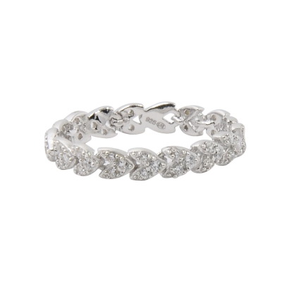 apm MONACO法國精品珠寶 閃耀簡約線條鑲鋯戒指