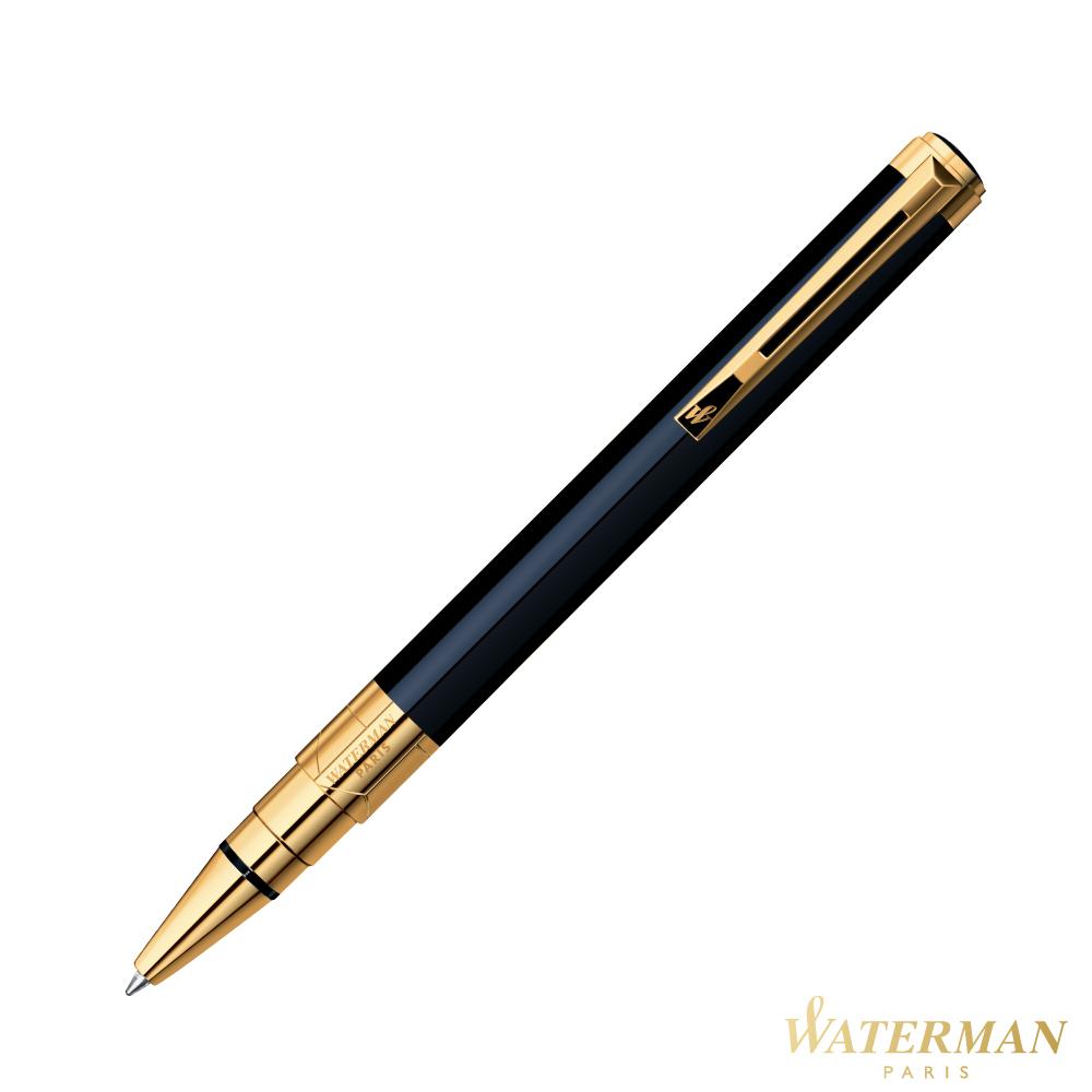 WATERMAN 透視系列 黑桿金夾 原子筆