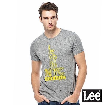 Lee 紐約自由女神短袖圓領TEE-男款-中花灰