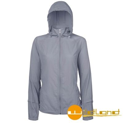 【Wildland 荒野】 0 A 01905  女 透氣抗UV輕薄外套( 90 灰色)
