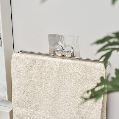 樂貼工坊 不鏽鋼掛架/毛巾架/金屬貼面(2入組)-39.5x4.8