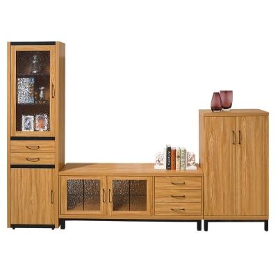 ROSA羅莎  克洛斯9尺客廳組合櫃(1.8尺書櫃+5尺電視櫃+2.2尺鞋櫃)