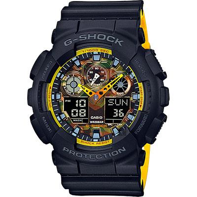 CASIO卡西歐G-SHOCK絕對強悍雙顯錶-迷彩55mm