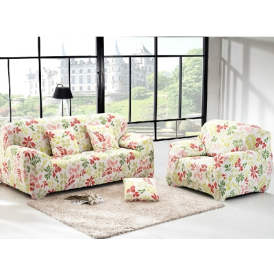日創優品 超舒適彈性-夏威夷紅綠彈性沙發套 -單人沙發套-1人座