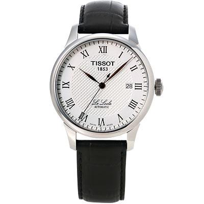 TISSOT  Le Locle 力洛克圖騰紋機械錶-金/39mm