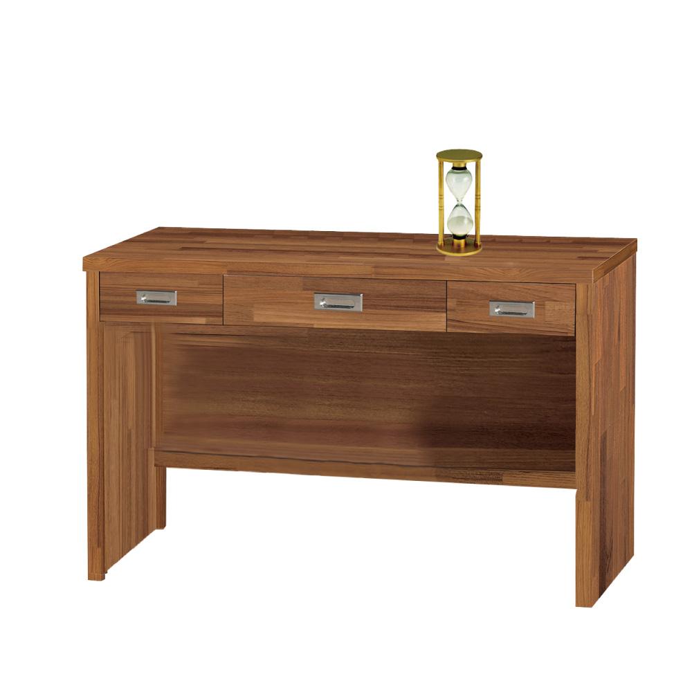 品家居 萊特4尺三抽書桌-120.6x57.6x78.5cm-免組