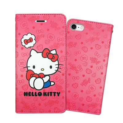 三麗鷗 Hello Kitty iPhone 8/iPhone 7 甜心彩繪磁扣...