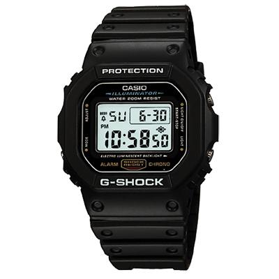 G-SHOCK 經典DW-5600系列電子腕錶(DW-5600E-1)-黑/42.8mm