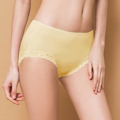 內褲 微性感蕾絲抗敏M-XL內褲 初暮黃 可蘭霓Clany