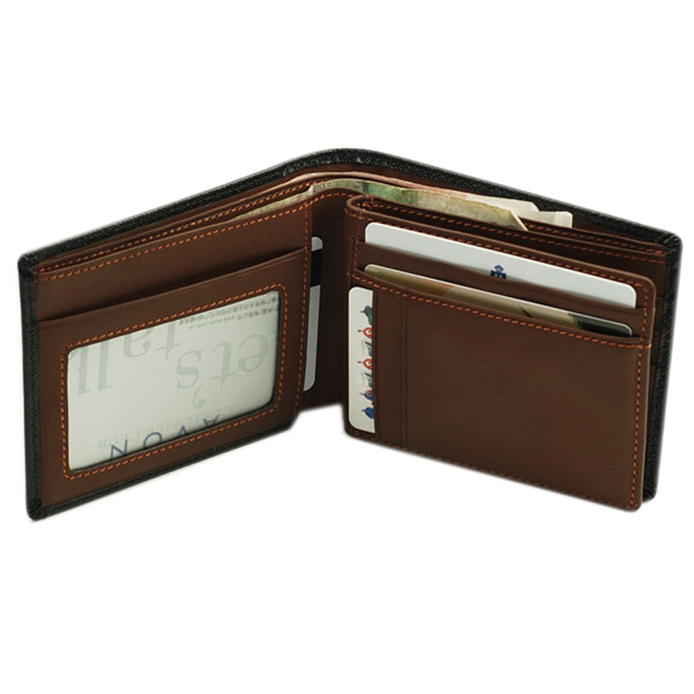 Majacase - 手工7卡2鈔票夾活頁橫摺式短夾 -小牛皮