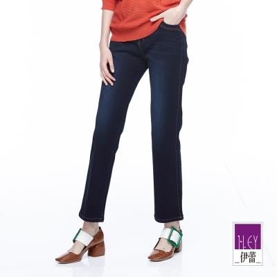 ILEY伊蕾 時尚率性牛仔小直筒褲魅力價商品(藍)