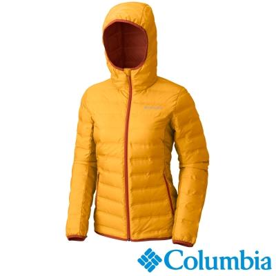Columbia哥倫比亞  女款-無縫650羽絨連帽外套-黃色 UWR00060YL