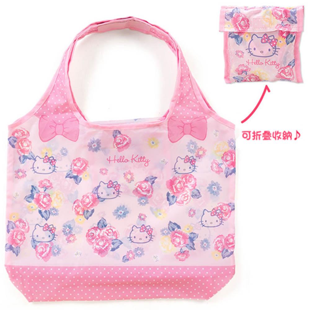 Sanrio HELLO KITTY環保購物袋M(繽紛薔薇)