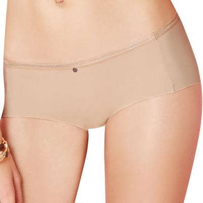 思薇爾 嗨Q Bra系列M-XL素面低腰平口褲(親膚色)