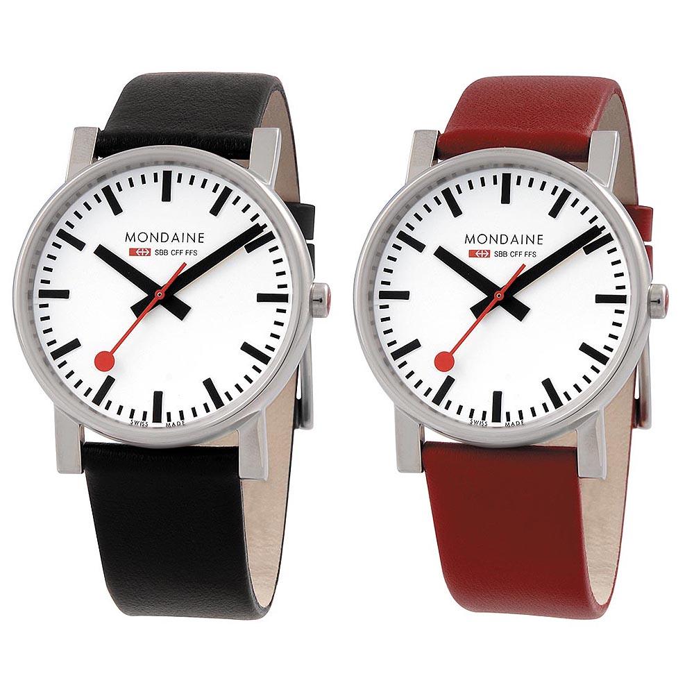 Mondaine 瑞士國鐵經典時尚對錶-38mm