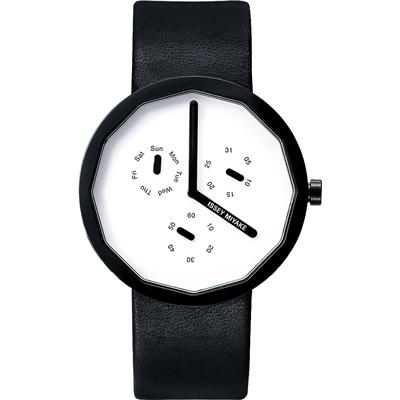 ISSEY MIYAKE 三宅一生 TWELVE 深澤直人設計無刻度皮帶錶 40mm 公司貨 SILAP008Y VD76-0010UC