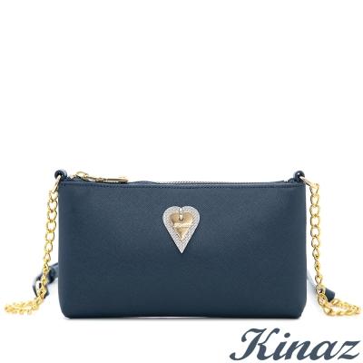 KINAZ-大英博物館-知性女孩斜背包-迷人藍