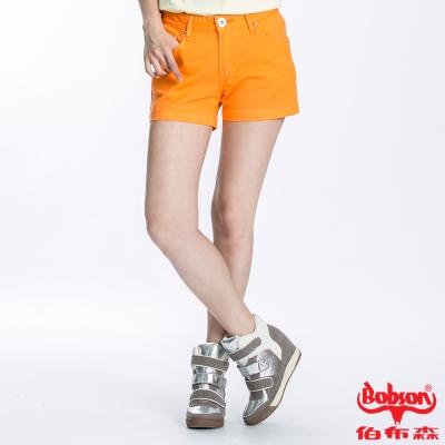 BOBSON 女款套染短褲(橘196-31)